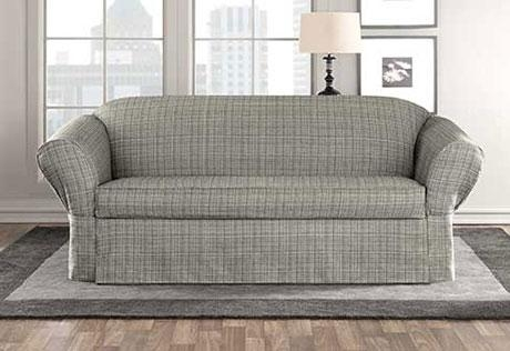 Sure Fit – Category Pertaining To Black Sofa Slipcovers (Image 19 of 20)
