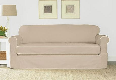 Sure Fit – Category With Canvas Sofa Slipcovers (View 6 of 13)