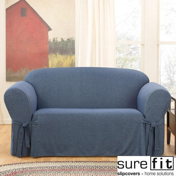 Sure Fit Denim Loveseat Slipcover – Free Shipping Today With Denim Loveseats (Image 20 of 20)