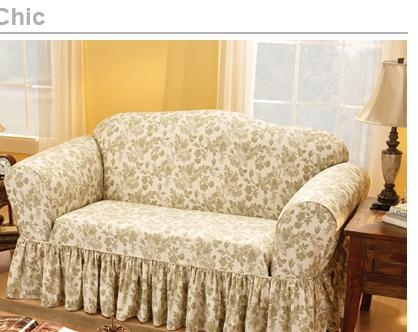 Sure Fit – Shoproom  Shabby Chic Pertaining To Shabby Chic Sofa Slipcovers (Image 20 of 20)