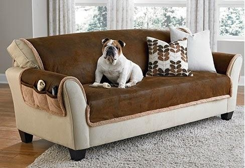Sure Fit Slipcovers: Life Is Ruff, Pet Proof Your Decor! With Regard To Pet Proof Sofa Covers (Image 19 of 20)