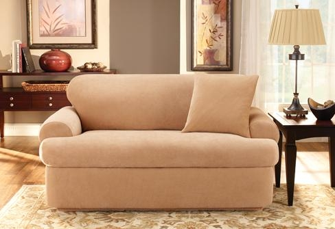 Sure Fit Slipcovers: Need A Slipcover And Have Loose Back Cushions Within Loose Pillow Back Sofas (Image 17 of 20)