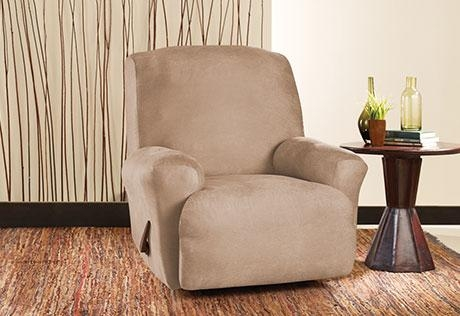 Sure Fit – Stretch Leather Recliner Throughout Stretch Covers For Recliners (View 9 of 20)