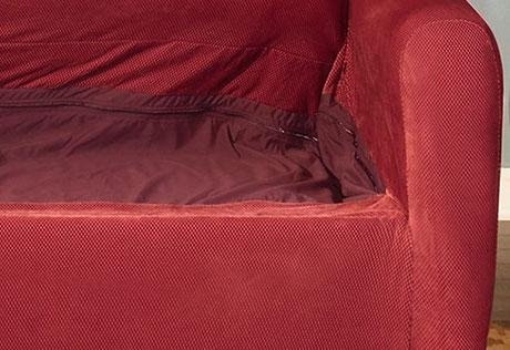 Sure Fit – Stretch Pique Full Sleeper Sofa In Stretch Slipcover Sofas (Image 17 of 20)