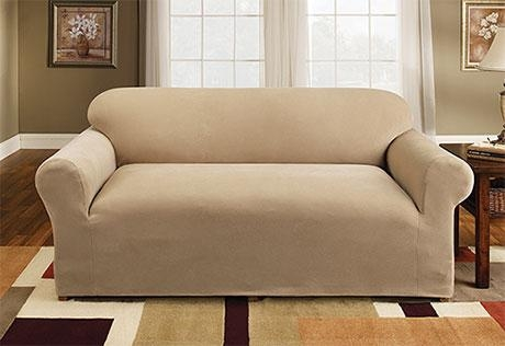 Sure Fit – Stretch Pique One Piece For Stretch Slipcover Sofas (Image 18 of 20)
