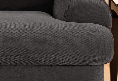 Sure Fit – Stretch Pique Three Piece T Cushion With Regard To T Cushion Slipcovers For Large Sofas (Image 14 of 20)