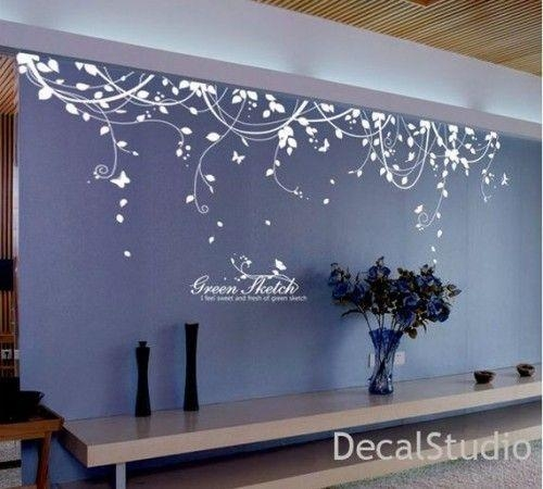 Surprising Living Room Decals For Home – Wall Decals For Living For Walmart Wall Stickers (Image 11 of 20)