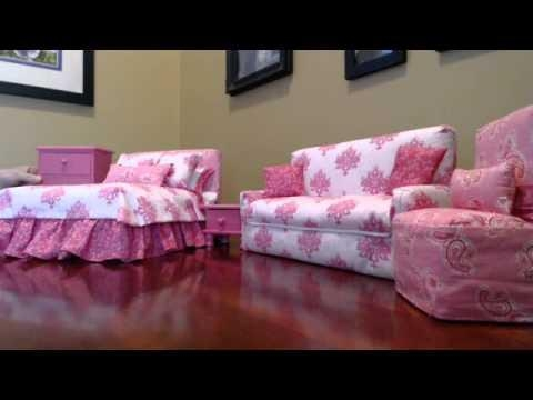 Susie's Barbie Furniture – Youtube Pertaining To Barbie Sofas (View 6 of 20)