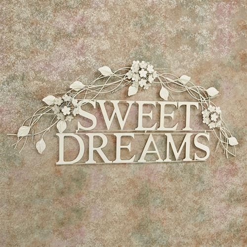 Sweet Dreams Creamy Gold Metal Word Wall Art Within Metal Word Wall Art (Image 16 of 20)