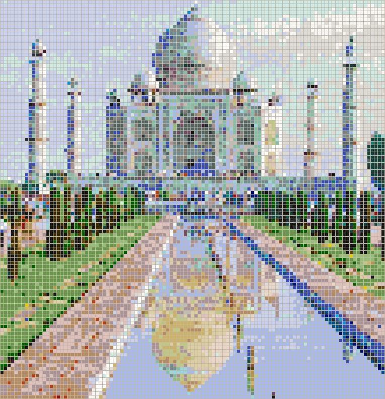 Taj Mahal – Framed Mosaic Wall Art Inside Taj Mahal Wall Art (View 16 of 20)