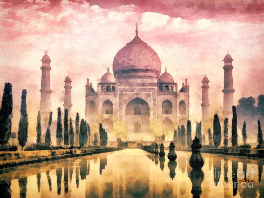 Taj Mahal Paintingmo T Pertaining To Taj Mahal Wall Art (View 9 of 20)
