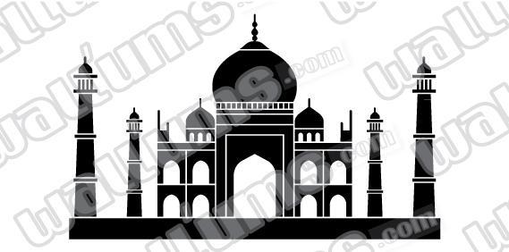 Taj Mahal Wall Art Decal Sticker Intended For Taj Mahal Wall Art (Image 15 of 20)