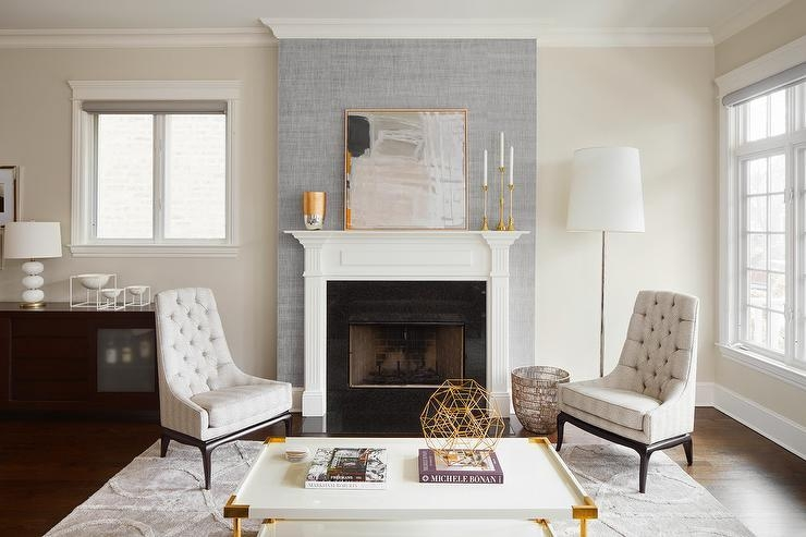 Tall Fireplace Design Ideas In Fireplace Wall Art (Image 17 of 20)