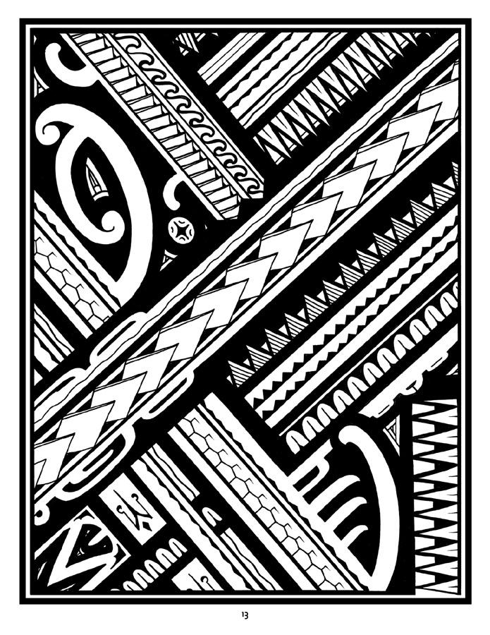 Tattoo: A Coloring Book Of Polynesian Artanthony J (Image 19 of 20)