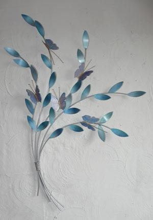 Teal Metal Wall Art – Wall Art Design Pertaining To Botanical Metal Wall Art (View 4 of 20)