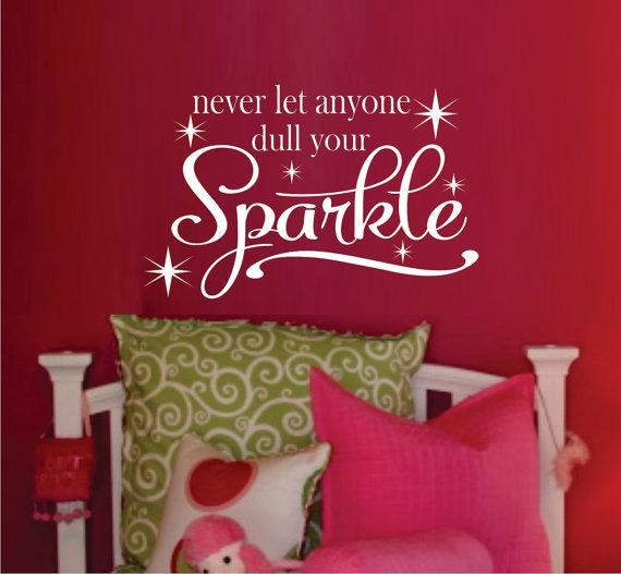 Teen Girl Wall Decal Bedroom Vinyl Wall Decal Bathroom For Wall Art For Girls (Image 16 of 20)