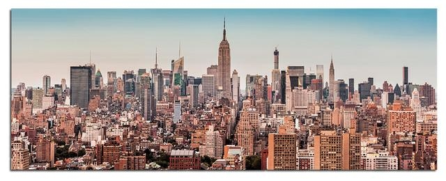 Tempered Glass Wall Art, New York City Skyline 2 – Traditional In New York City Wall Art (Image 13 of 20)