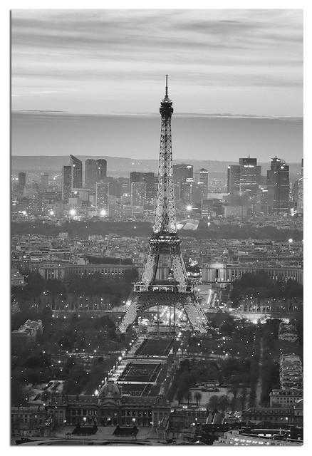 Tempered Glass Wall Art, Paris Eiffel Tower 2 – Traditional Pertaining To Black And White Paris Wall Art (Image 19 of 20)