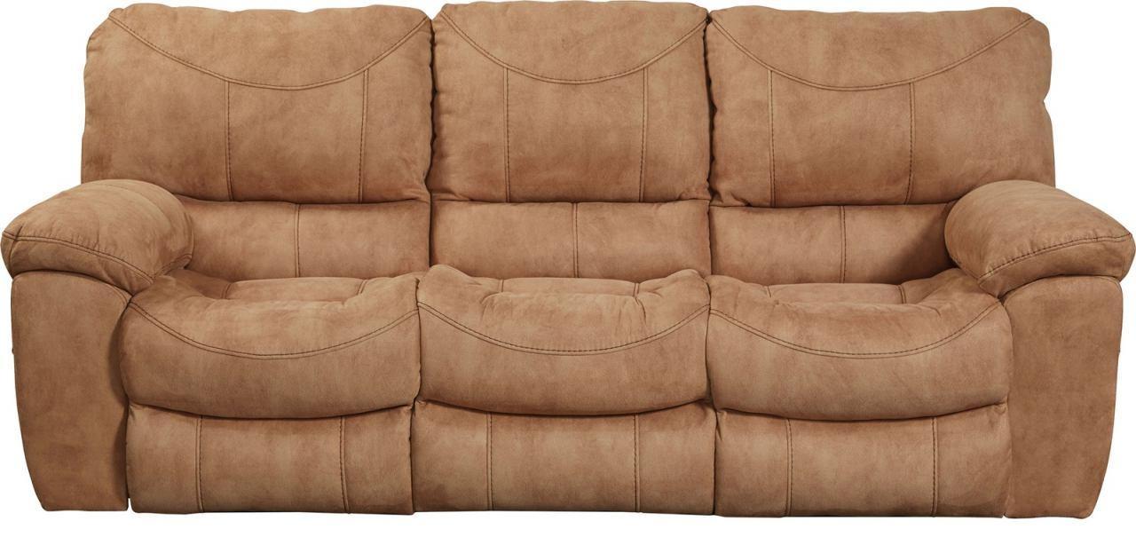 Terrance Reclining Sofa In Caramel 1581 Regarding Catnapper Recliner Sofas (Image 17 of 20)