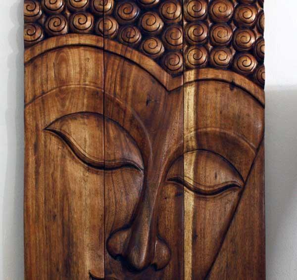 Thai Decor Wall Art, Buddha Wood Panels Beautiful Thai Wall Decor (Image 7 of 20)