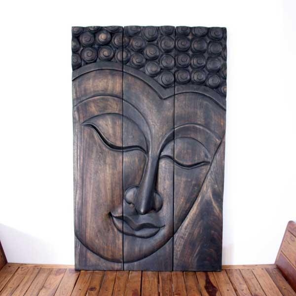 Thai Decor Wall Art, Buddha Wood Panels Beautiful Thai Wall Decor (Image 5 of 20)