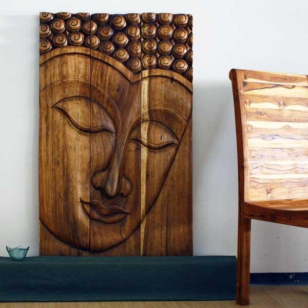 Thai Decor Wall Art, Buddha Wood Panels Beautiful Thai Wall Decor (Image 6 of 20)