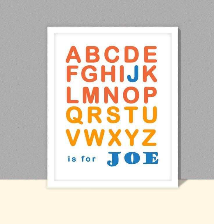 The 25+ Best Alphabet Print Ideas On Pinterest | Abc Nursery, Kids In Baby Name Wall Art (Image 18 of 20)