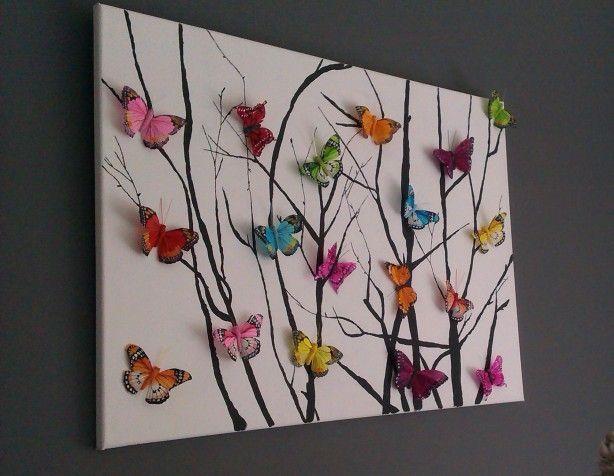 The 25+ Best Butterfly Wall Art Ideas On Pinterest | 3D Butterfly Regarding Homemade Wall Art (Image 17 of 20)
