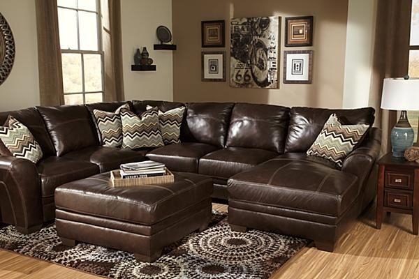 The Beenison – Chocolate Sectional From Ashley Furniture Homestore Regarding Ashley Furniture Leather Sectional Sofas (Image 20 of 20)
