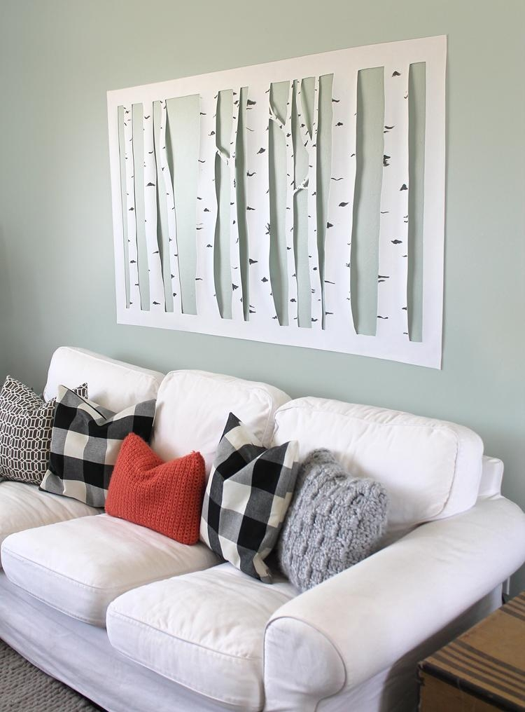 The Craft Patch: Large, Inexpensive Diy Aspen Tree Wall Art Pertaining To  Large Inexpensive