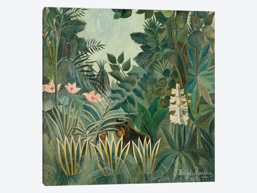 The Equatorial Jungle, 1909 Canvas Arthenri Rousseau | Icanvas Throughout Jungle Canvas Wall Art (Image 16 of 20)