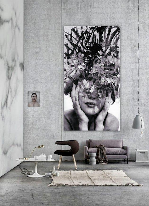 The Latest Décor Trend: 31 Large Scale Wall Art Ideas – Digsdigs Regarding Large Inexpensive Wall Art (Image 17 of 20)