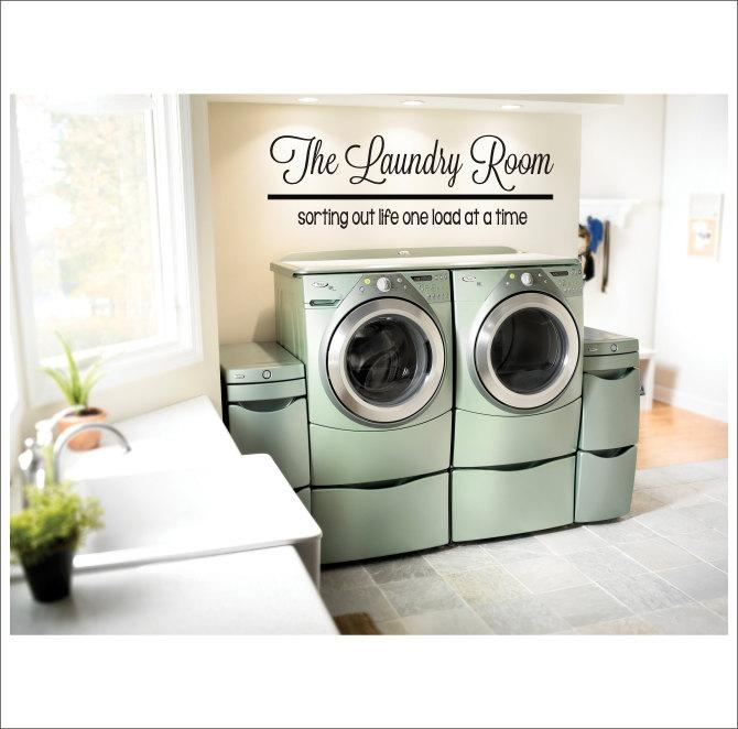 The Laundry Room Vinyl Wall Decal Large Vinyl Decor Laundry In Laundry Room Wall Art Decors (View 18 of 20)