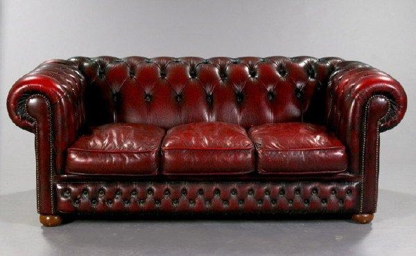 The Oxblood Chesterfield Couch From Christian's Playroom (Image 20 of 20)