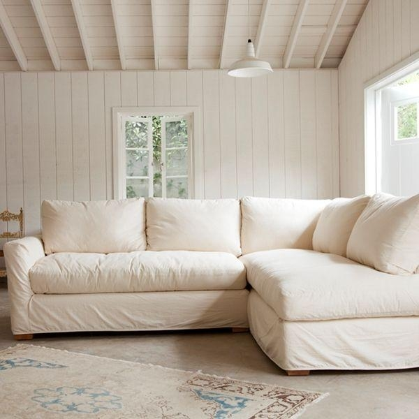 The Simple Sectional Sofa Down & Feather Seat And Back Cushions Within Shabby Chic Sectional Sofas (Image 20 of 20)