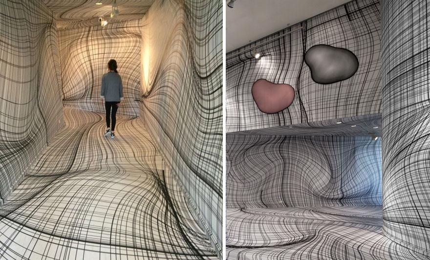 These Optical Illusion Roomspeter Kogler Will Give You Vertigo With Illusion Wall Art (Image 19 of 20)