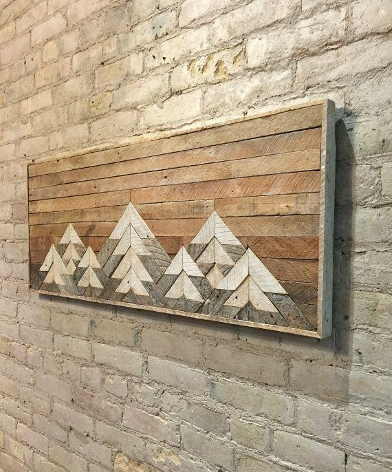 This One Of A Kind Wall Art Is Made From Reclaimed Lath Wood (Image 16 of 20)