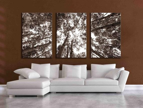 Three Large Multi Panel Wall Art Aspen 20X24 Inch Or 24X36 Intended For Three Panel Wall Art (Image 14 of 20)