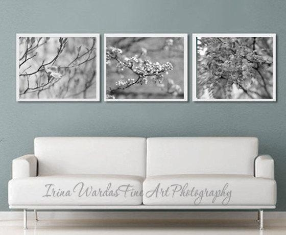 Three Print Set With Black White Fine Art Nature Photography Decor With Regard To Black And White Wall Art Sets (Image 16 of 20)