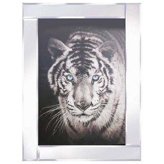 Tiger Head Modern Glass Wall Art On Mirror Frame 31340 In Mirrored Frame Wall Art (Image 17 of 20)