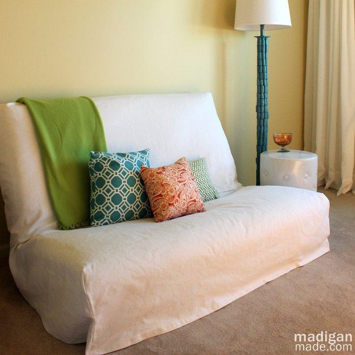 Tips For Sewing A Futon Slipcover – Rosyscription With Armless Sofa Slipcovers (View 4 of 20)