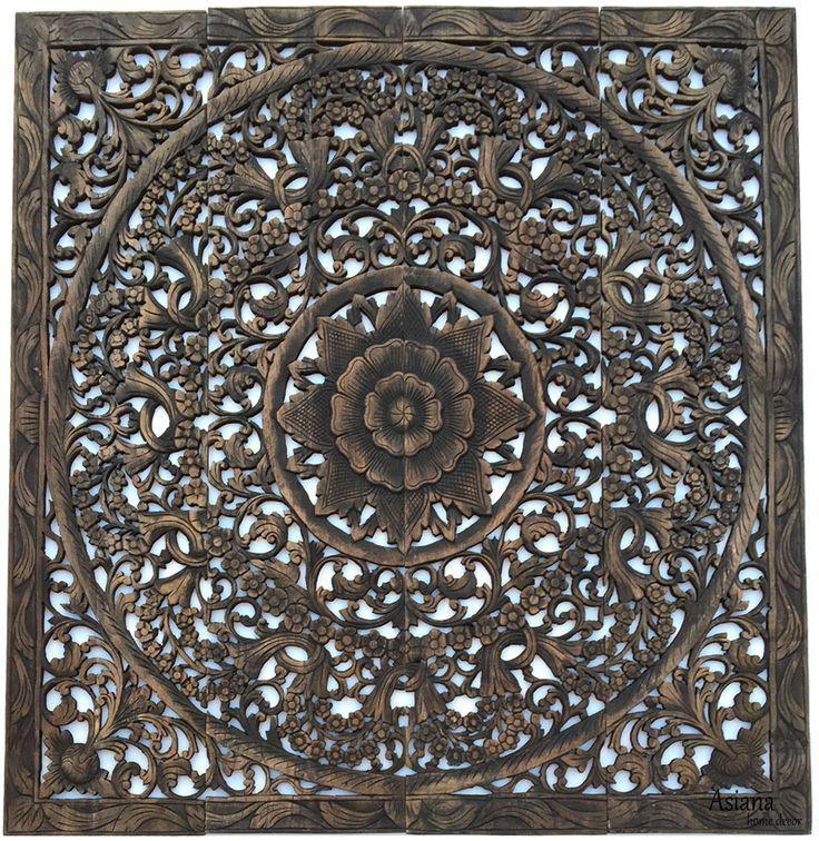 Top 25 Best Carved Wood Wall Art Ideas On Pinterest Thai Decor For Dark