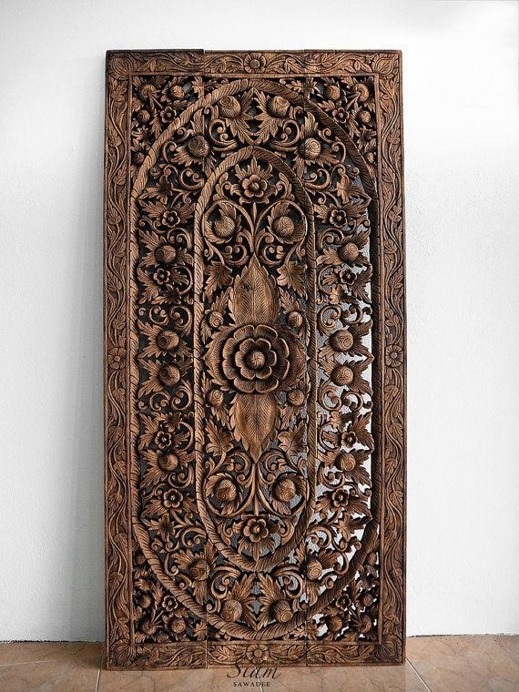Top 25+ Best Carved Wood Wall Art Ideas On Pinterest | Thai Decor In Dark Wood Wall Art (Image 14 of 20)