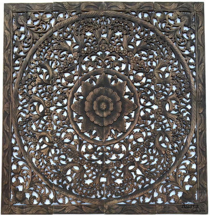 Top 25+ Best Carved Wood Wall Art Ideas On Pinterest | Thai Decor Within Wood Carved Wall Art Panels (View 7 of 20)
