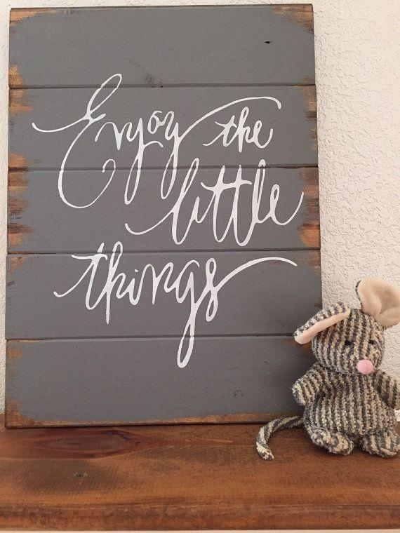 Top 25+ Best Home Decor Signs Ideas On Pinterest | Rustic Signs In Wooden Words Wall Art (View 7 of 20)