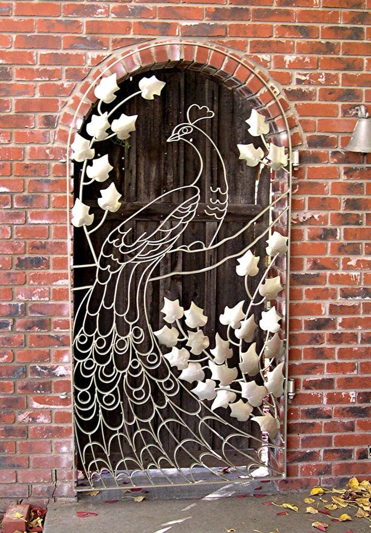 Top 25+ Best Iron Gate Design Ideas On Pinterest | Wrought Iron Within Metal Gate Wall Art (Image 20 of 20)