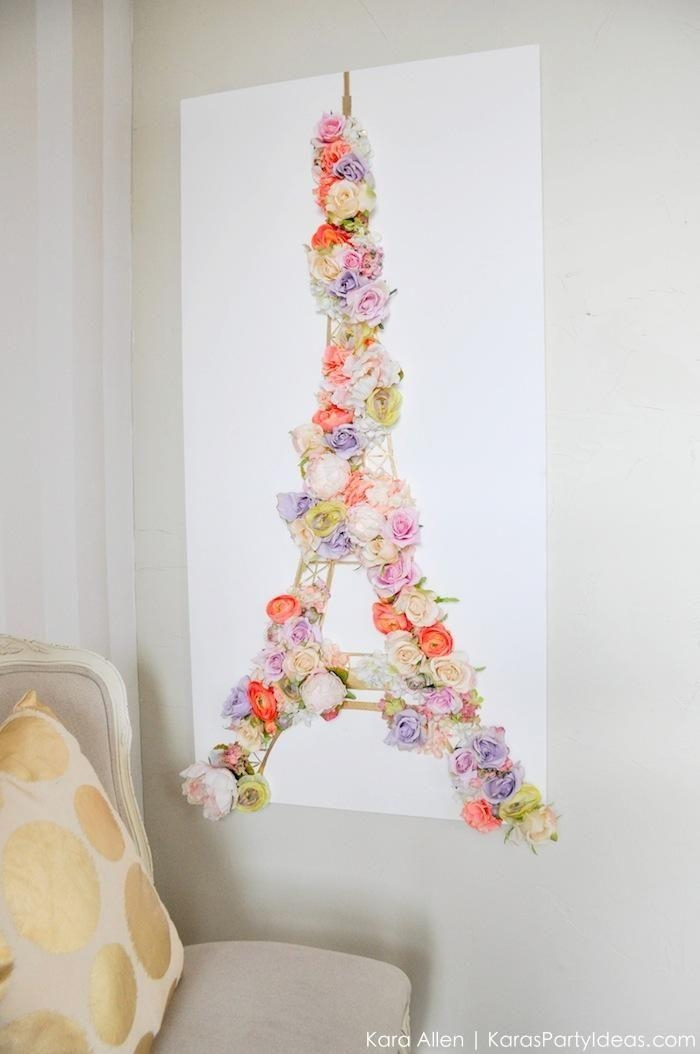 Top 25+ Best Paris Crafts Ideas On Pinterest | Paris Party, Eiffel With Regard To Paris Theme Wall Art (Image 19 of 20)