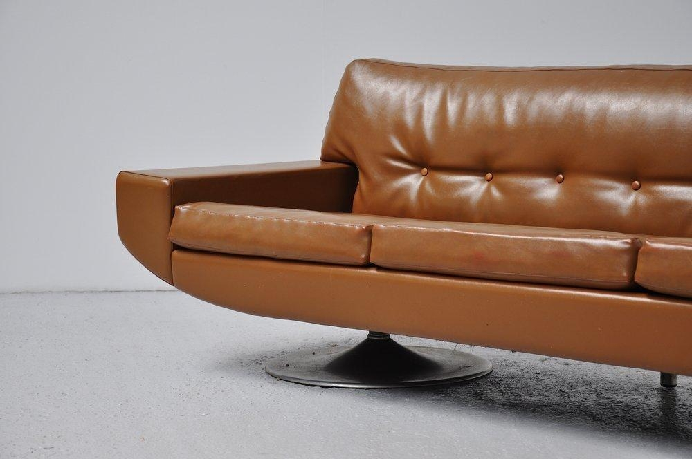 Topform Camel Colored Leather Sofa With Rosewood Details At 1Stdibs With Regard To Camel Colored Leather Sofas (Image 20 of 20)