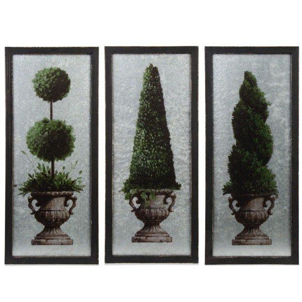 Topiary Wall Art Arrangment, Set Of 3 | Antique Farmhouse In Topiary Wall Art (View 8 of 20)