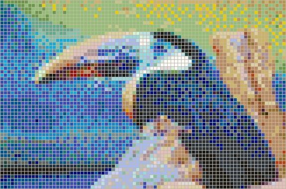 Toucan – Framed Mosaic Wall Art Within Pixel Mosaic Wall Art (Image 20 of 20)